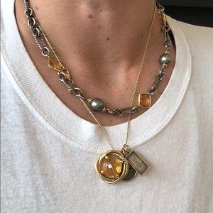 David Yurman Black Pearl and Citrine necklace
